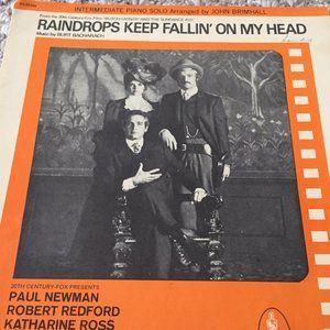 RAINDROPS KEEP FALLIN ON MY HEAD SHEET MUSIC